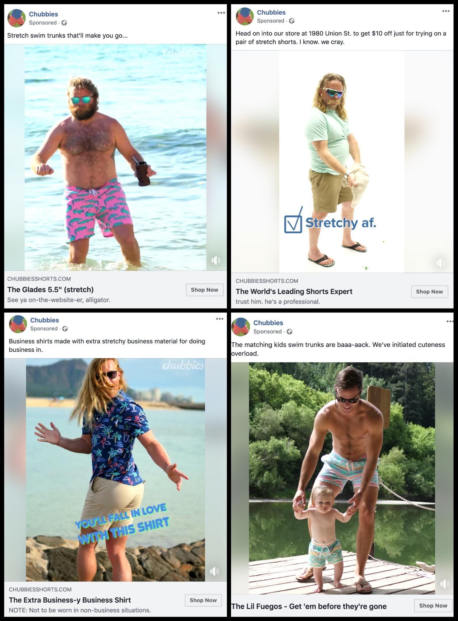 Chubbies Facebook Info and Ads