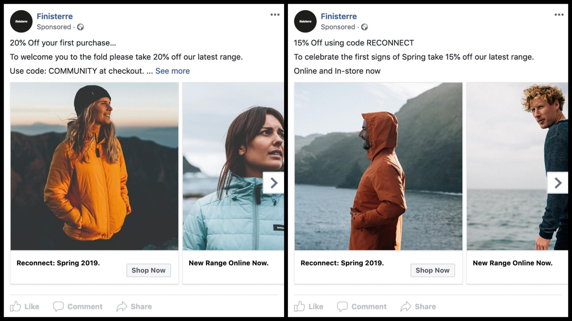 Finisterre Facebook Info and Ads