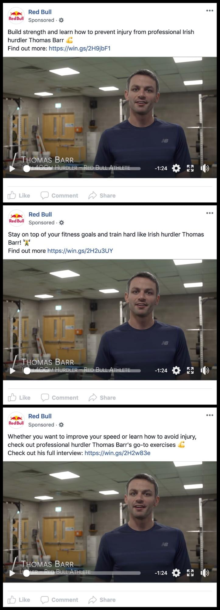 RedBull Facebook Info and Ads