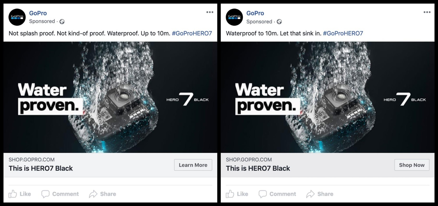 GoPro Facebook Info and Ads