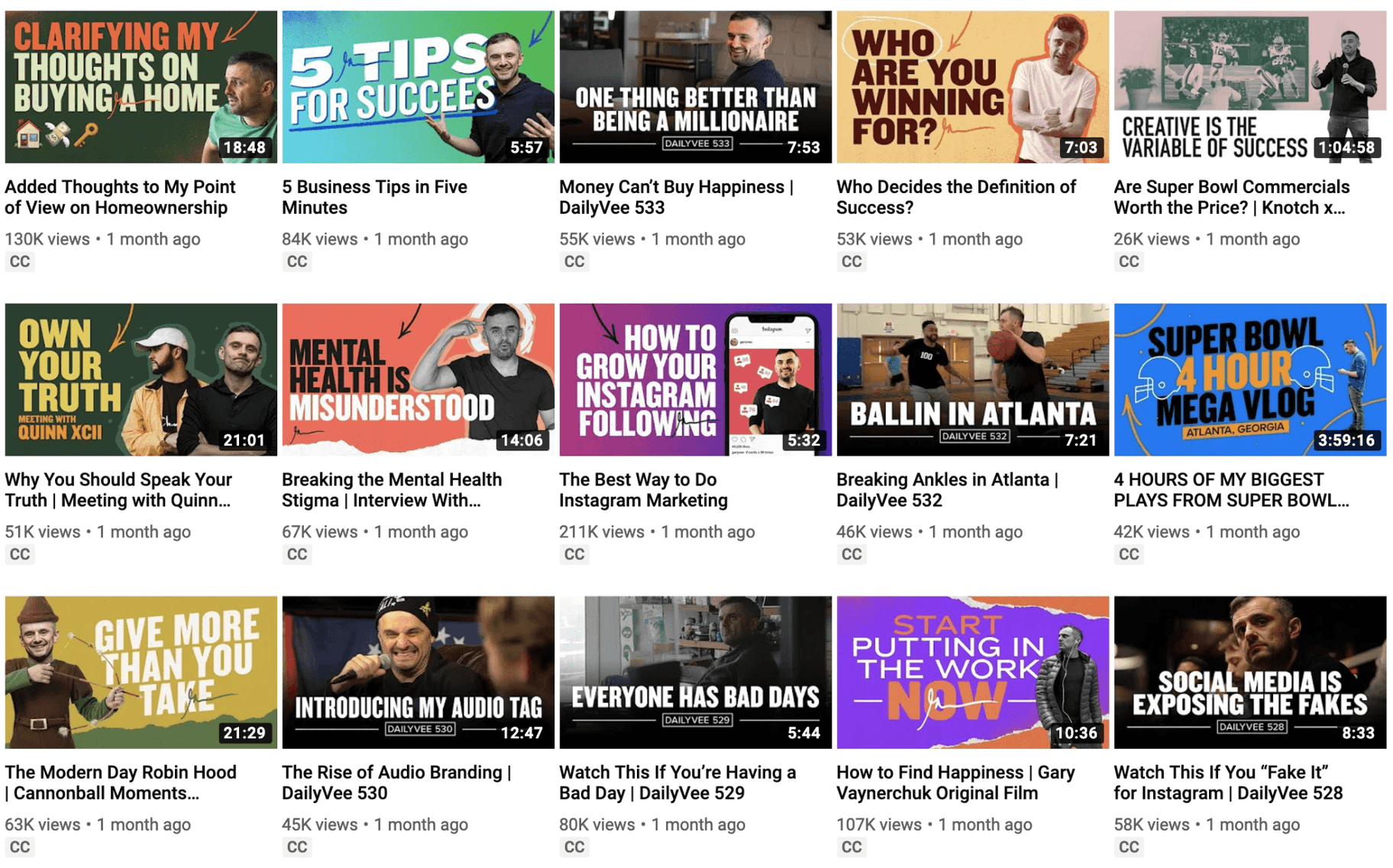 Gary Vee YouTube Thumbnail
