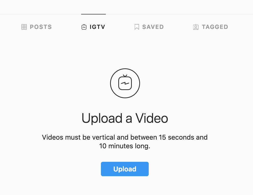 Upload IGTV