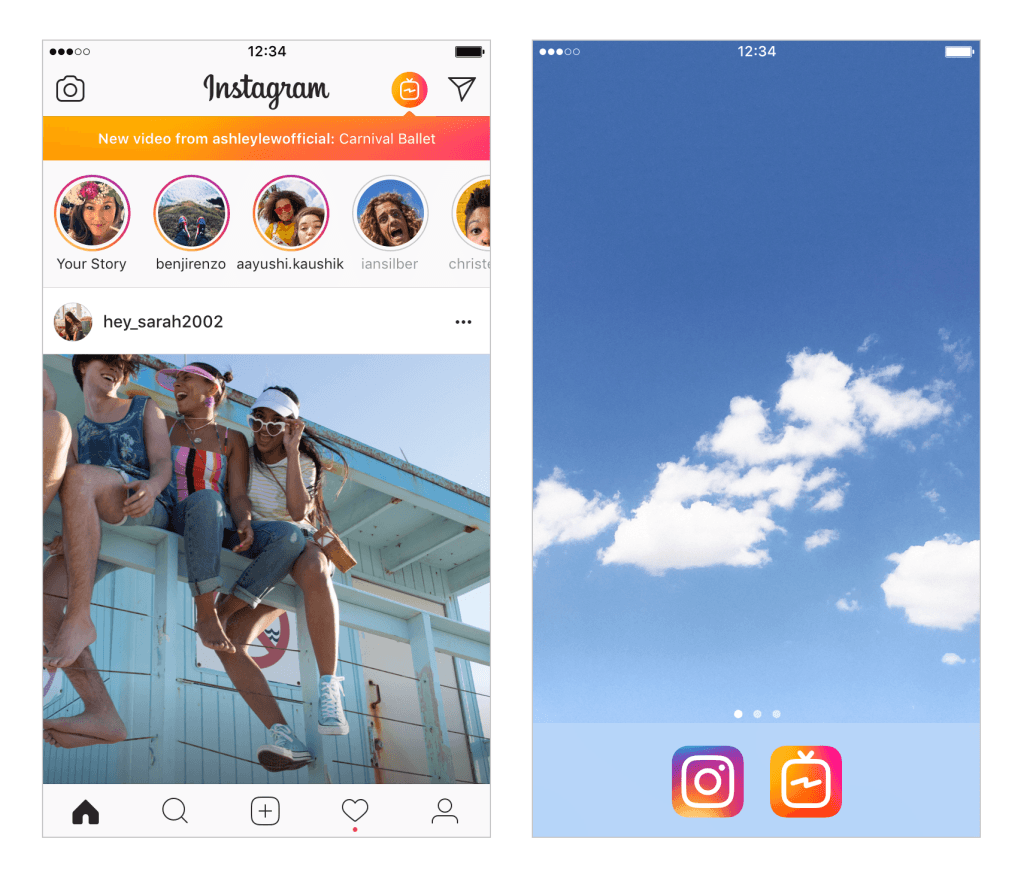 Instagram and IGTV Apps