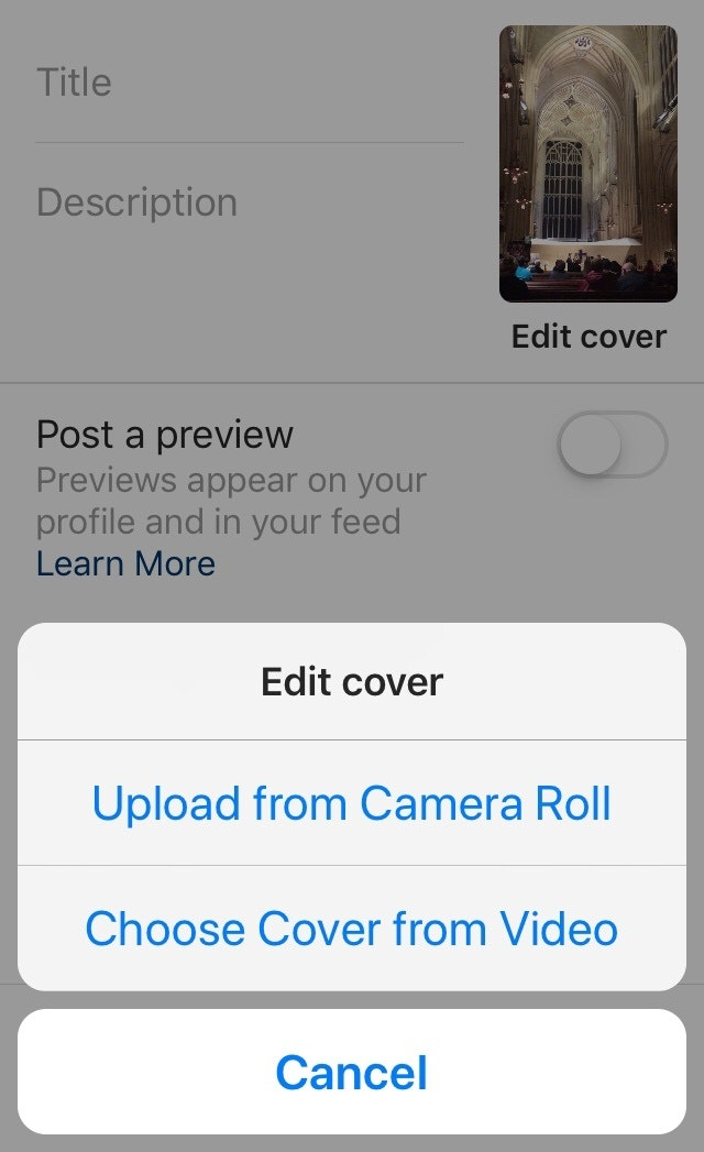 Instagram Video Cover Image