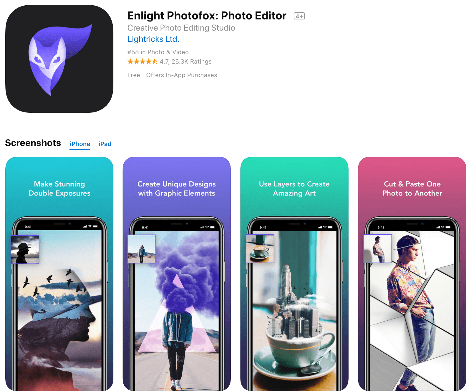 Enlight Photofox