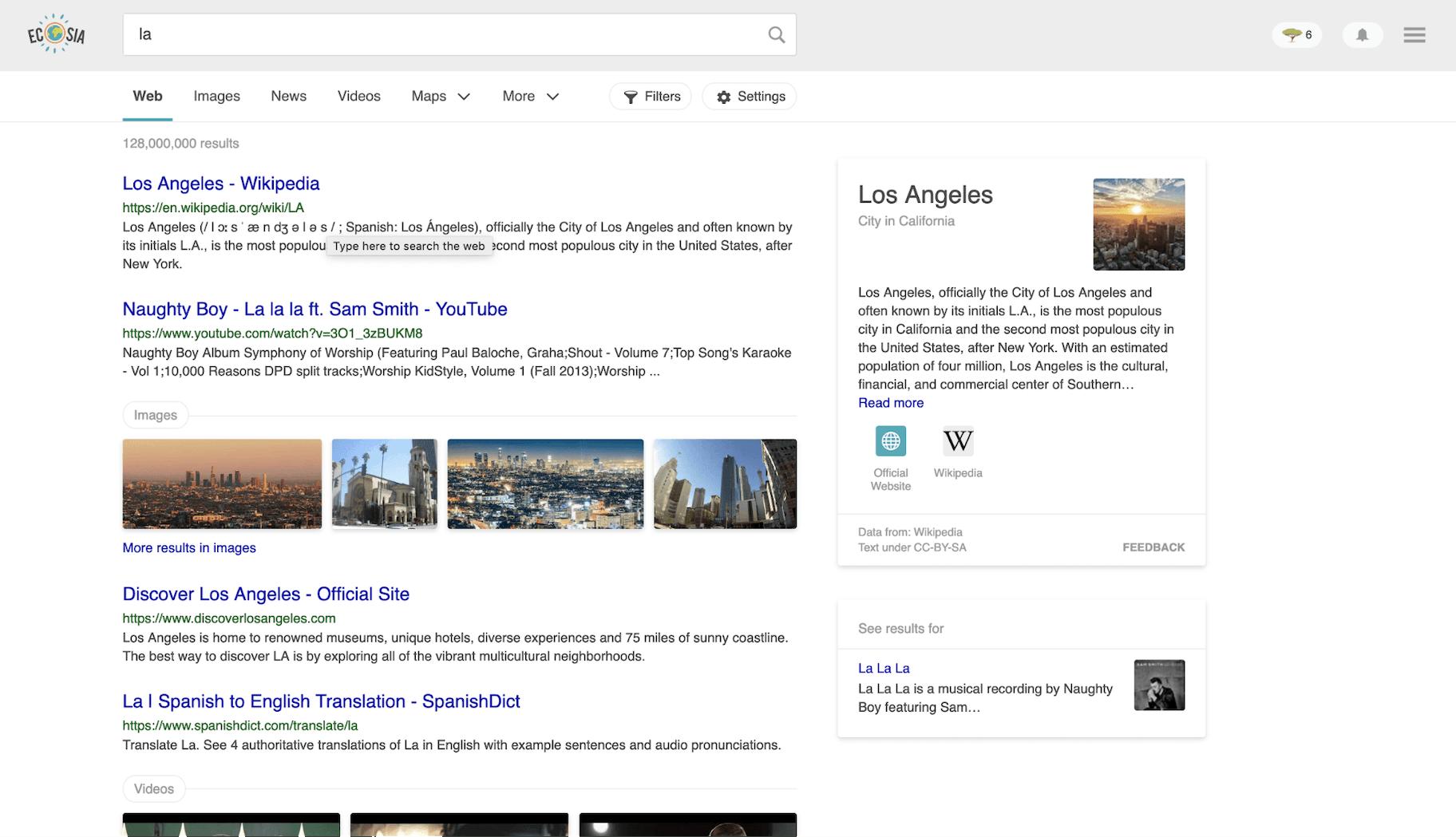 Ecosia Search Engine