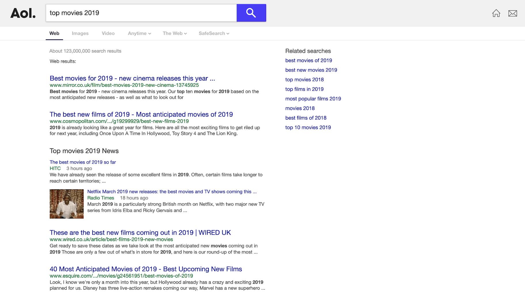 AOL Search Engine