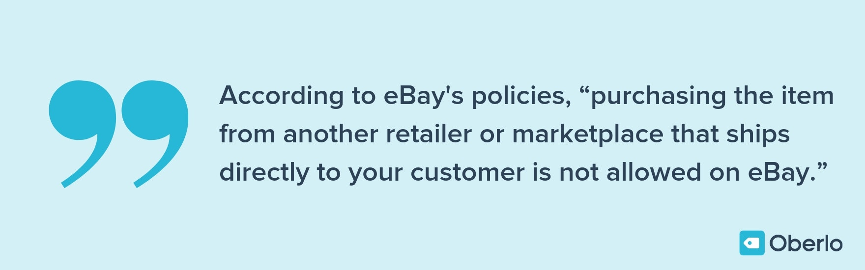 ebay dropshipping policies