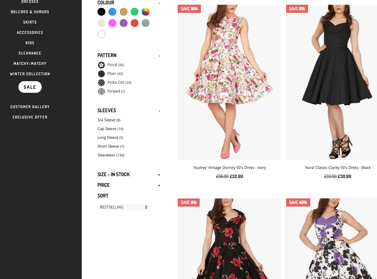 top ecommerce website design examples