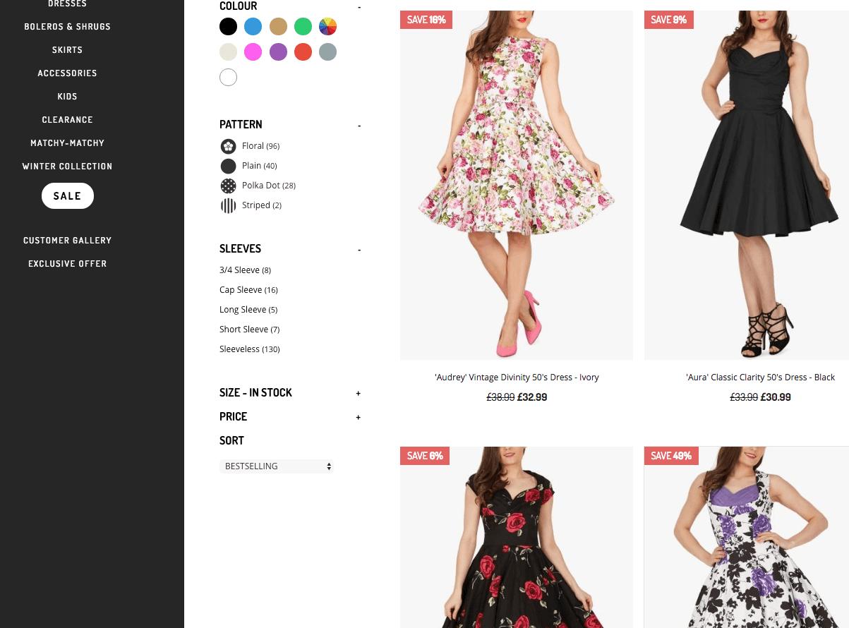 top ecommerce website design examples