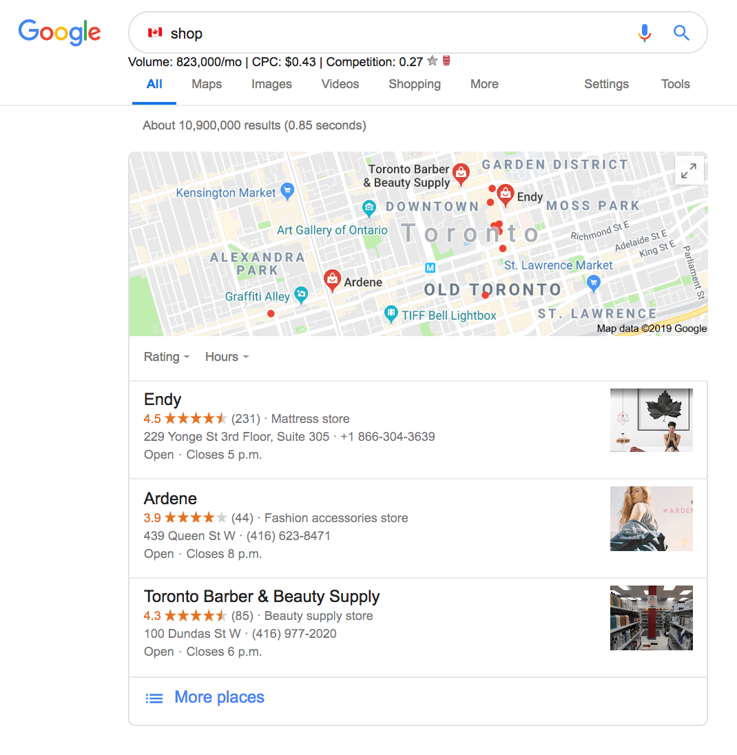 canadian shop emoji seo