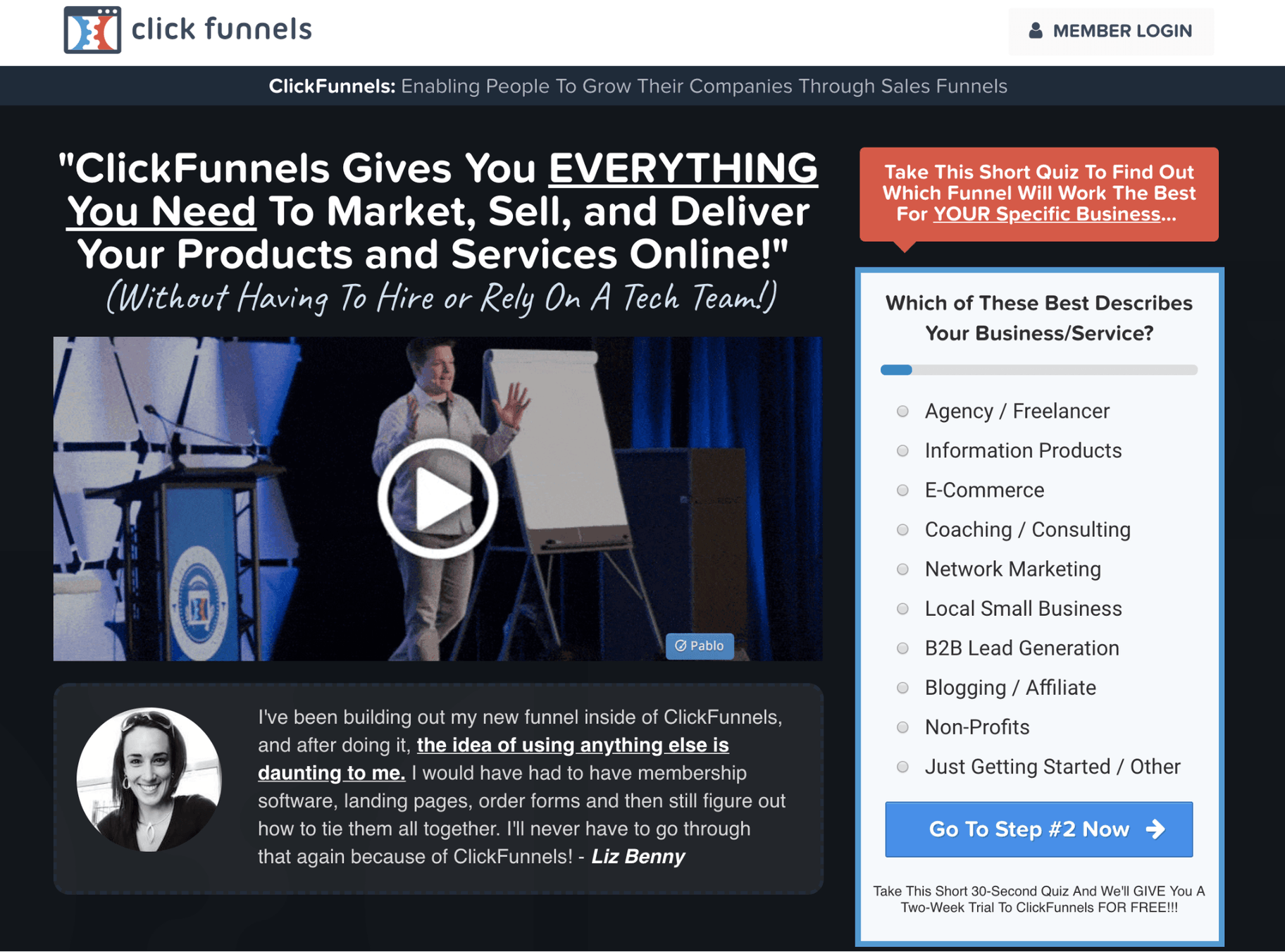 Create a Website ClickFunnels