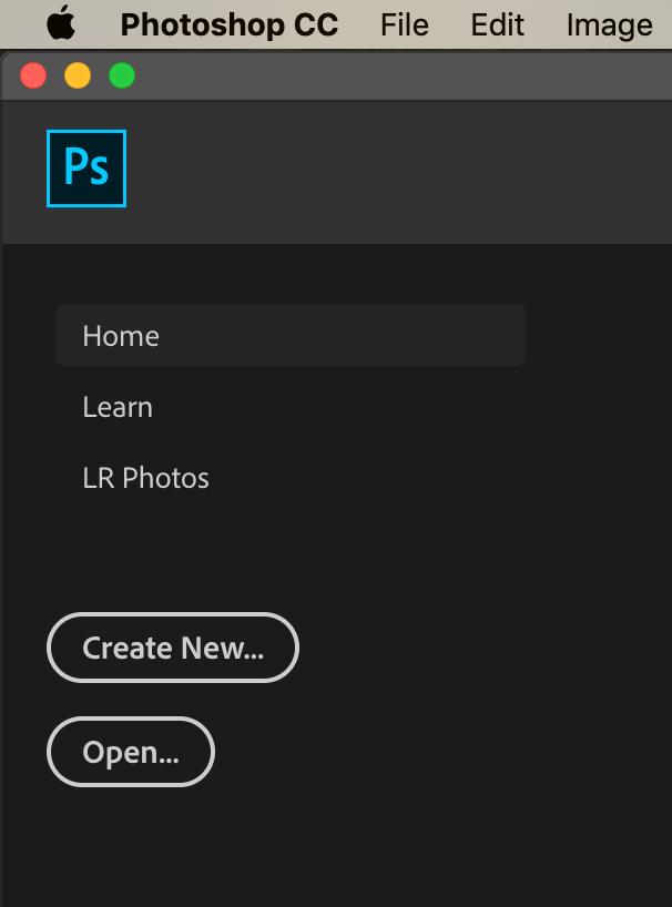 Create New Photoshop
