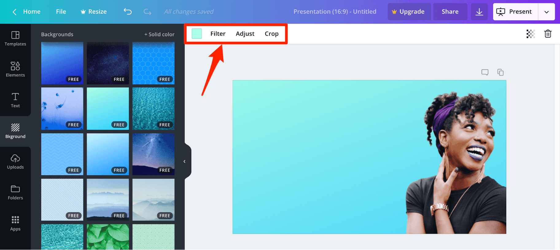 Edit Background of Image in Canva