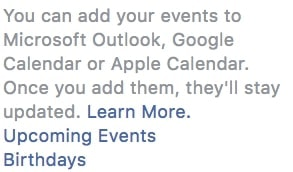 add facebook events to google calendar