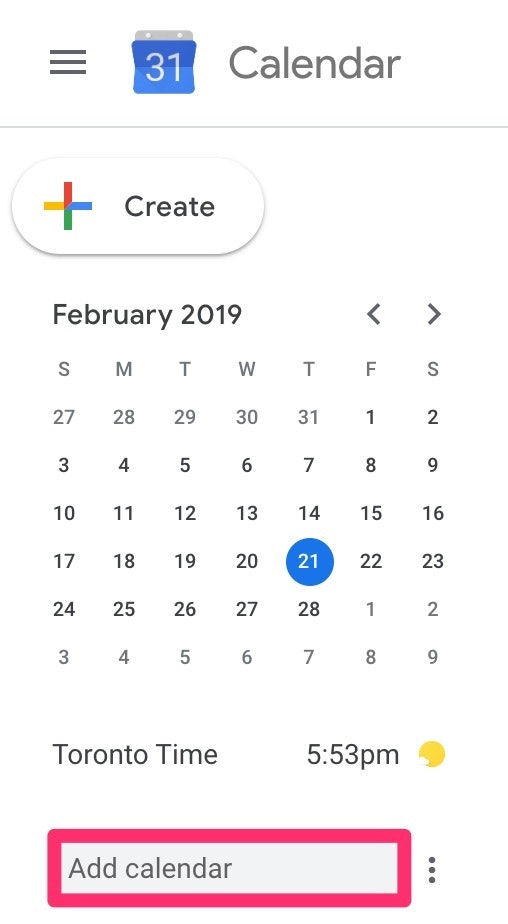 Add a colleagues calendar