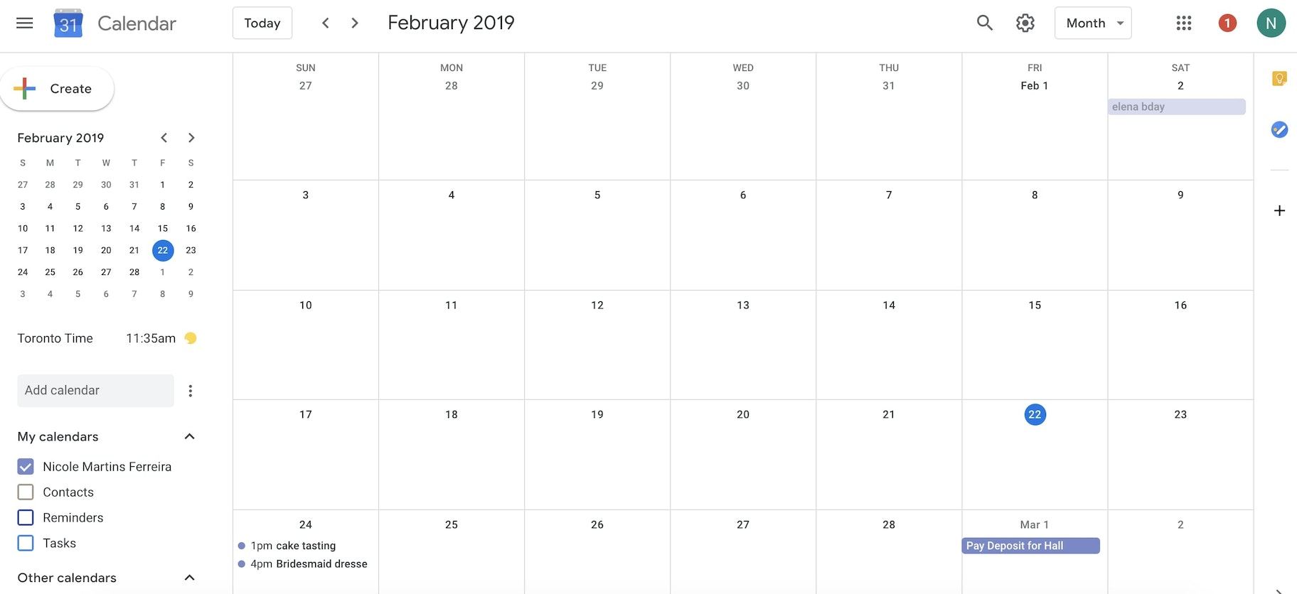 month view google calendar