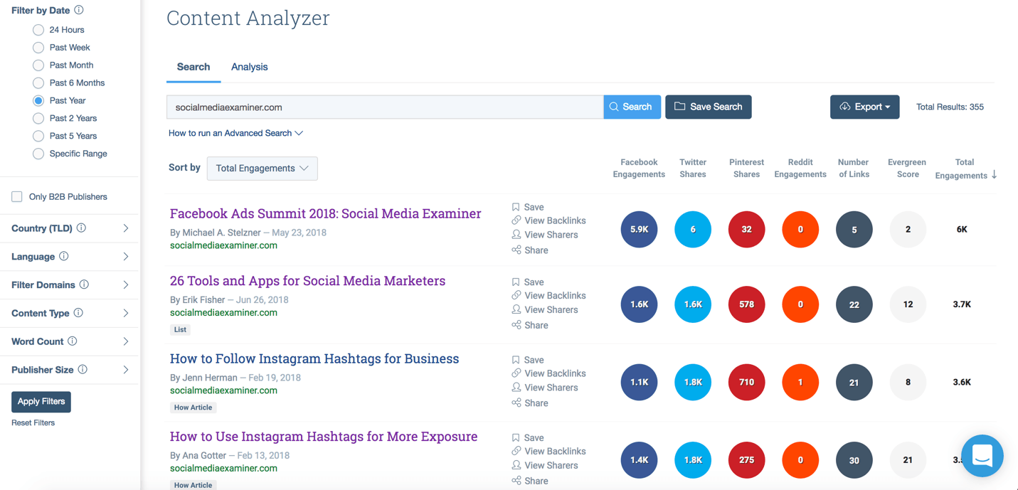 use buzzsumo to see popular posts