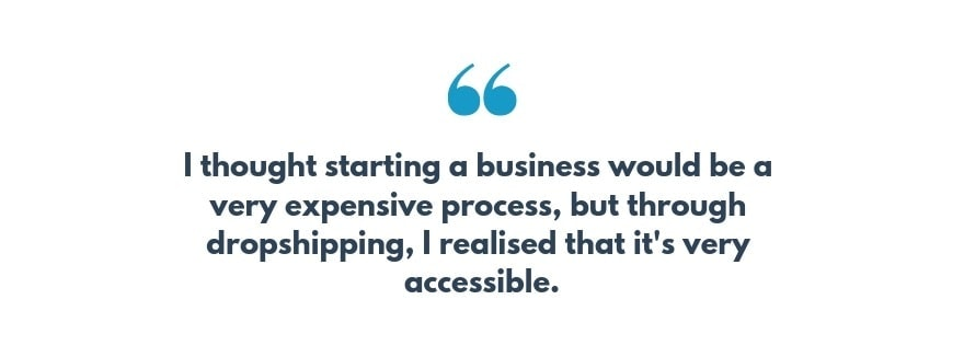 Dropshipping makes ecommerce accessible