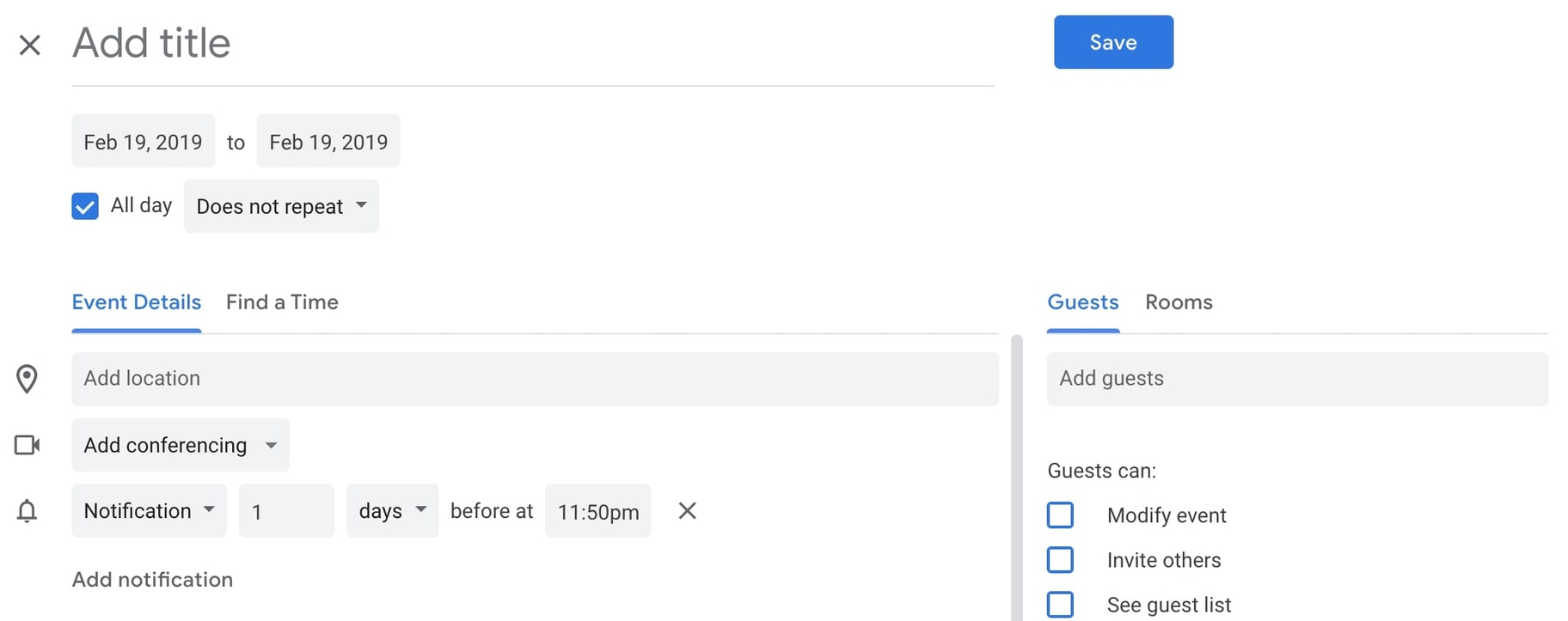 how to hide guest list in google calendar