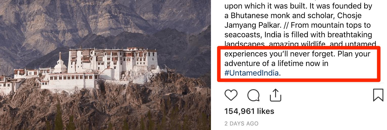 Untamed India Native Advertising
