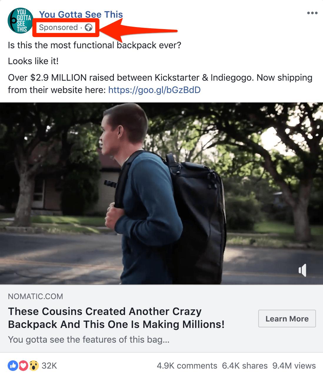 Facebook Native Advertising