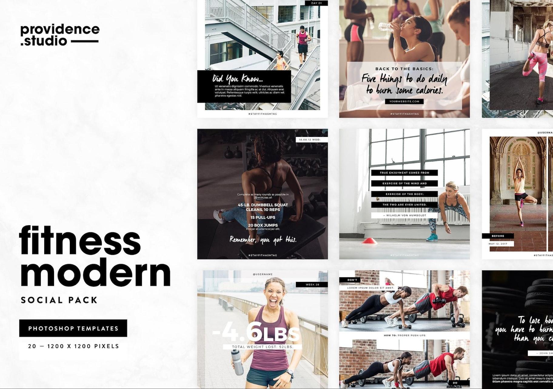 Instagram Templates Fitness