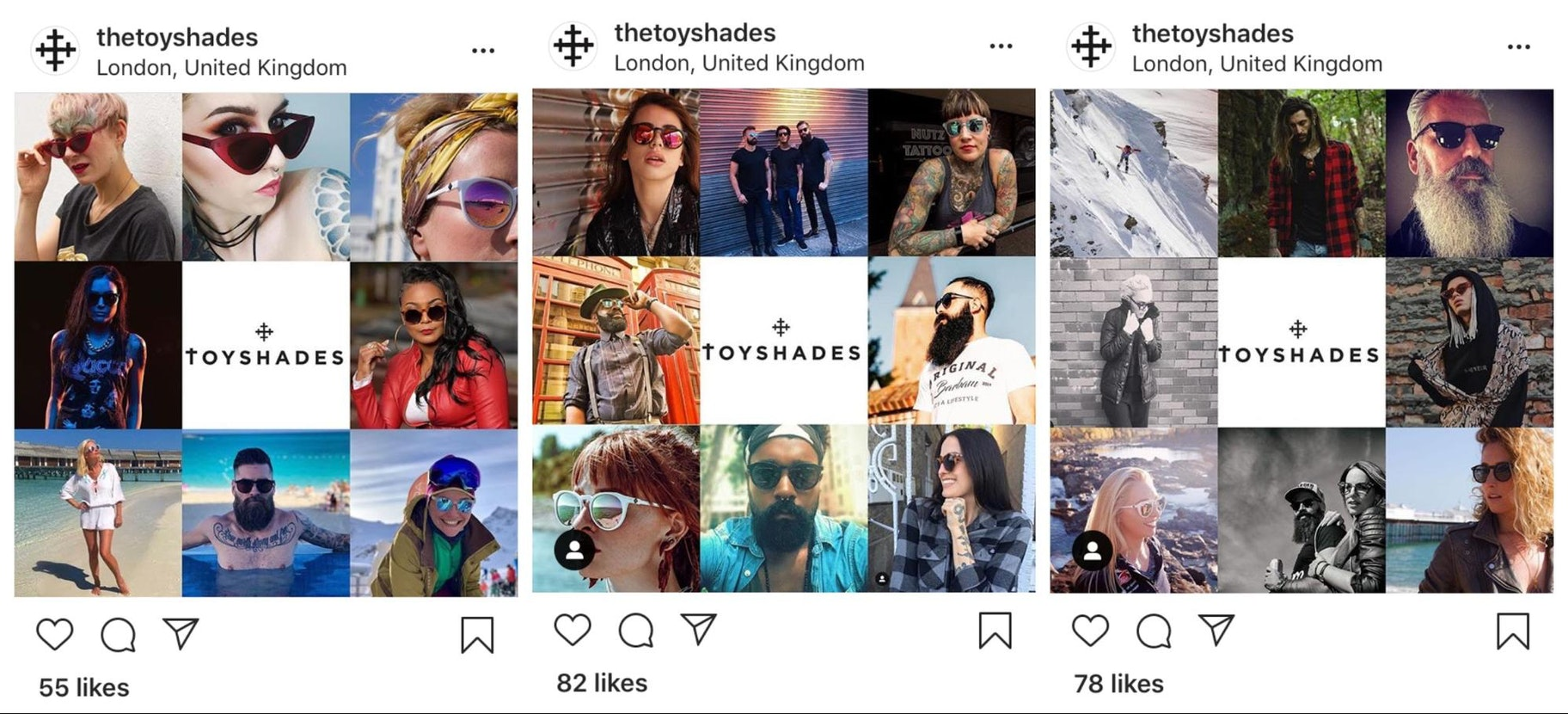 ToyShades Instagram Templates