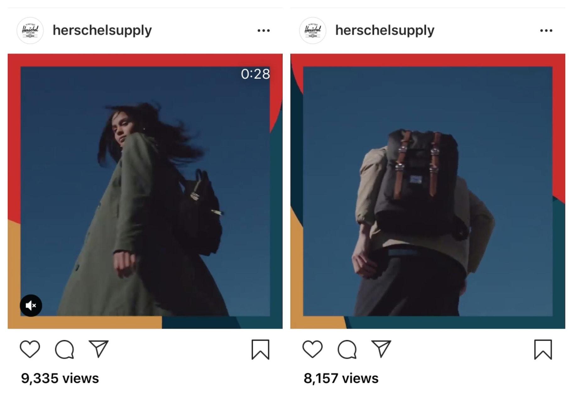 Herschel Supply Instagram Templates