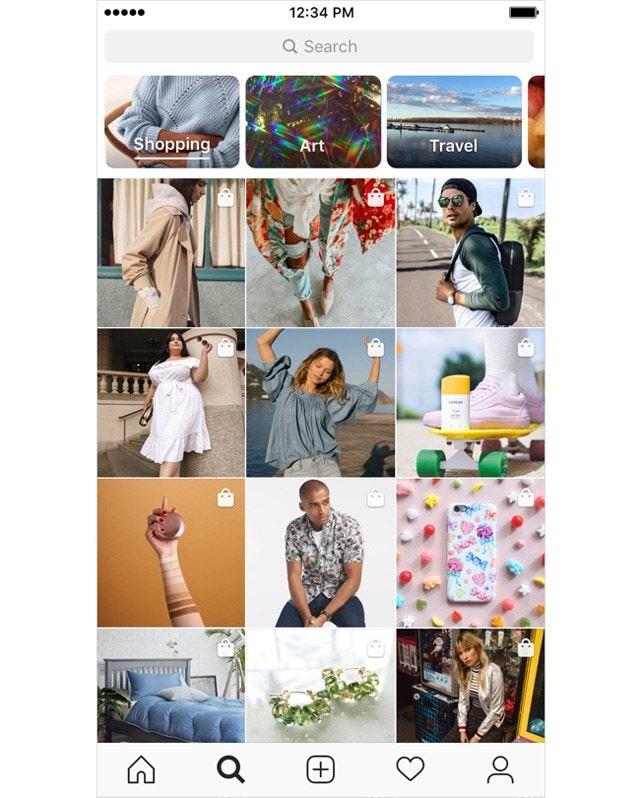 Instagram Shop Discover Tab