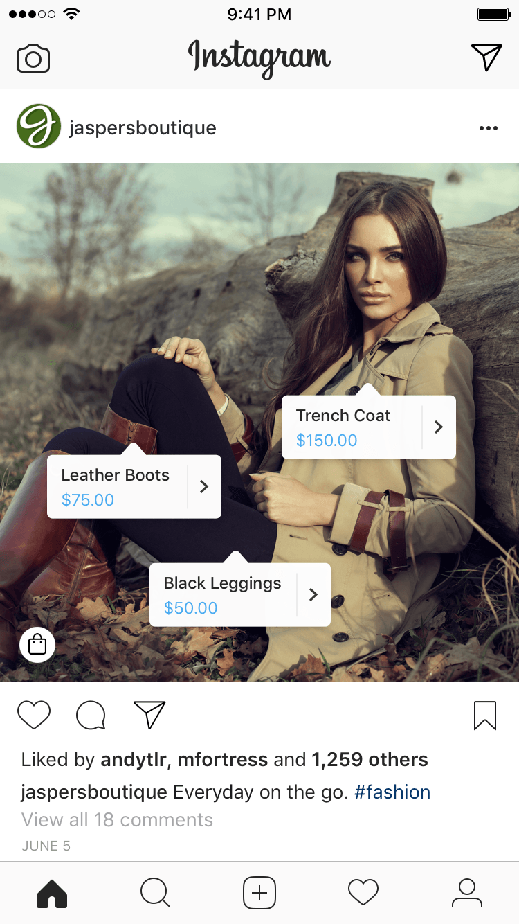 Instagram Shop Post Example