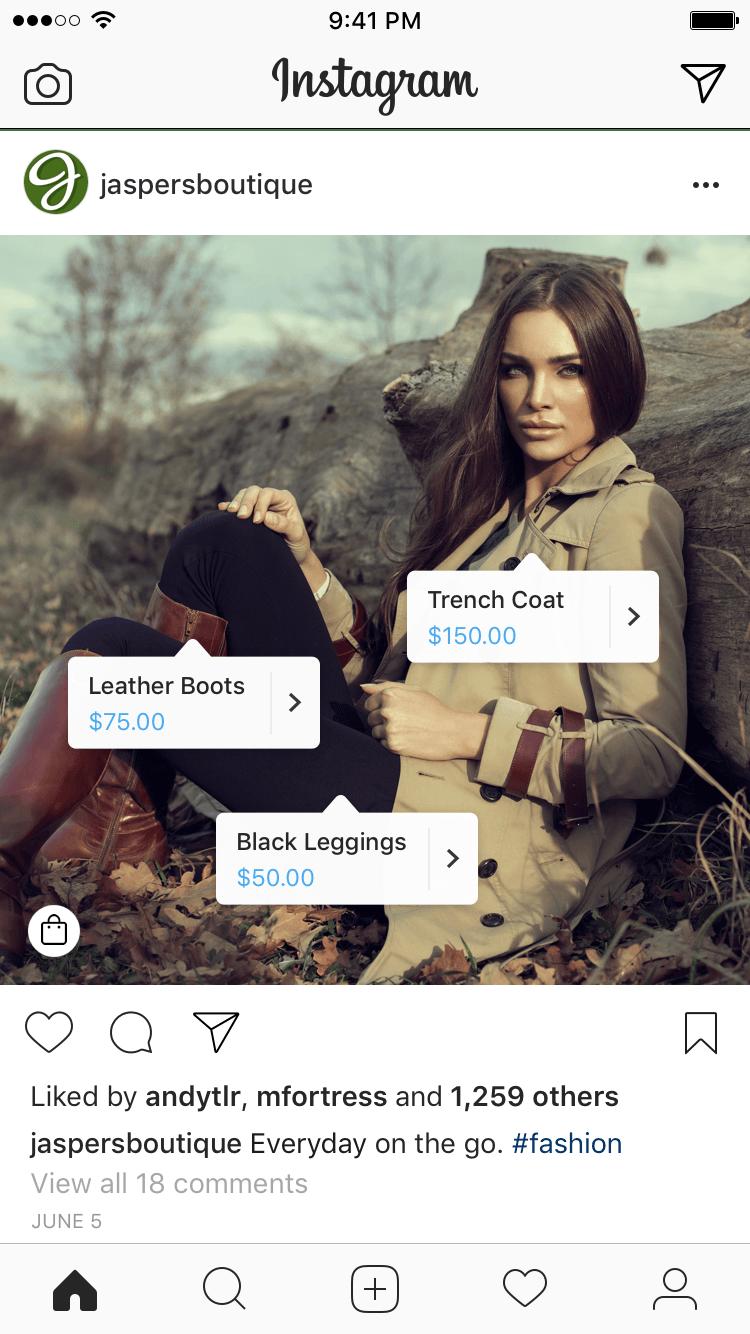 Instagram Shop Post Example