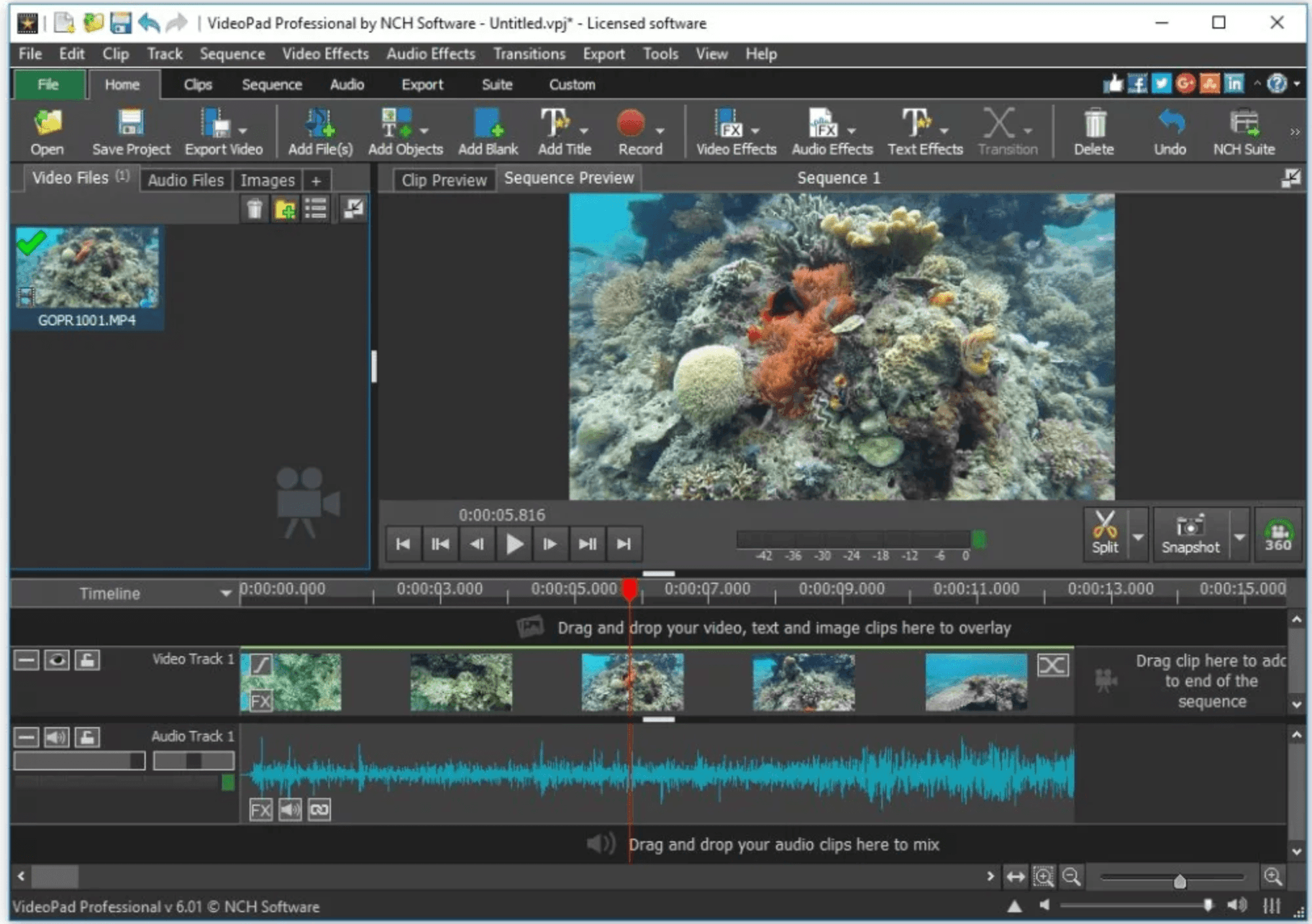 VideoPad Video Windows Editing Software