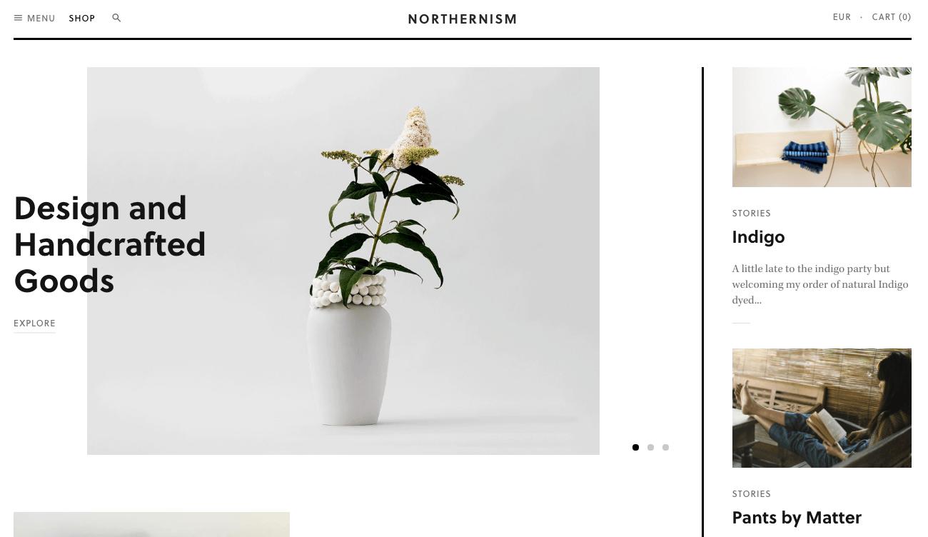ecommerce homepage design