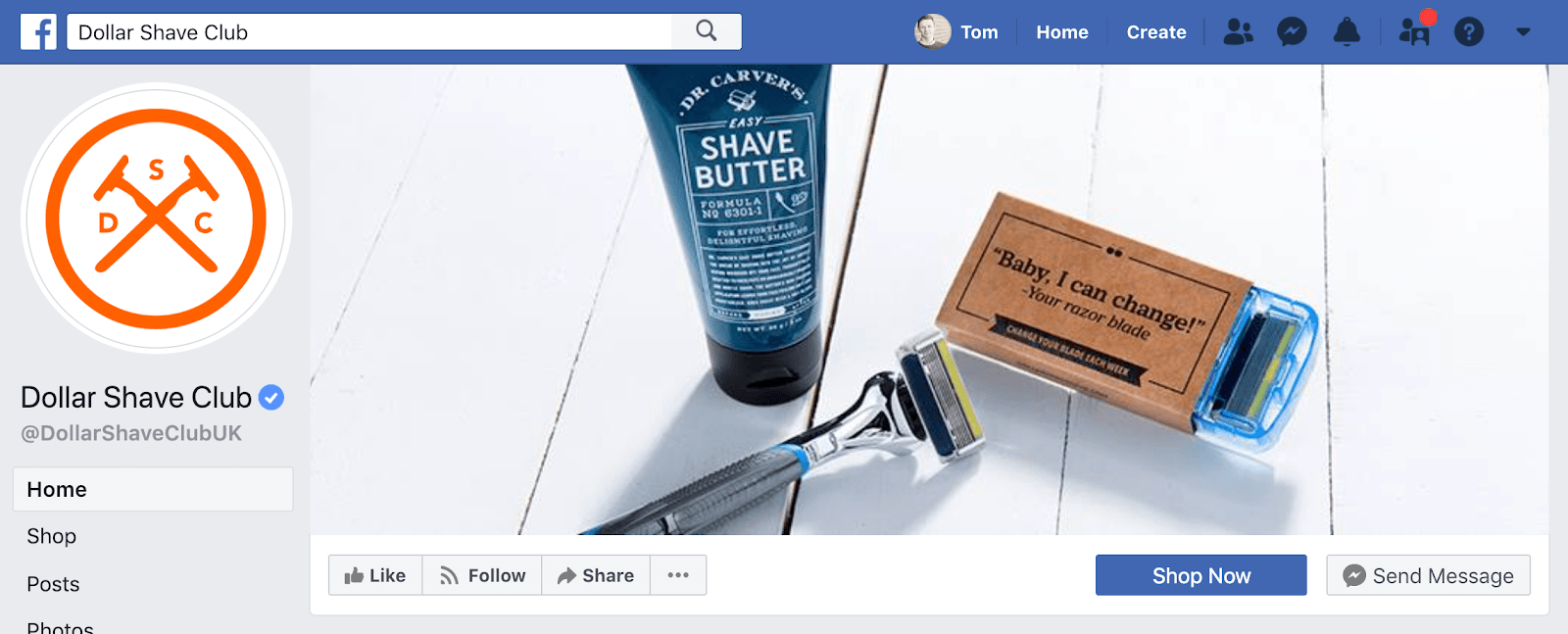 Dollar Shave Club Facebook Cover Photo