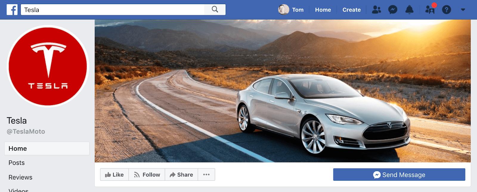 Tesla Facebook Page