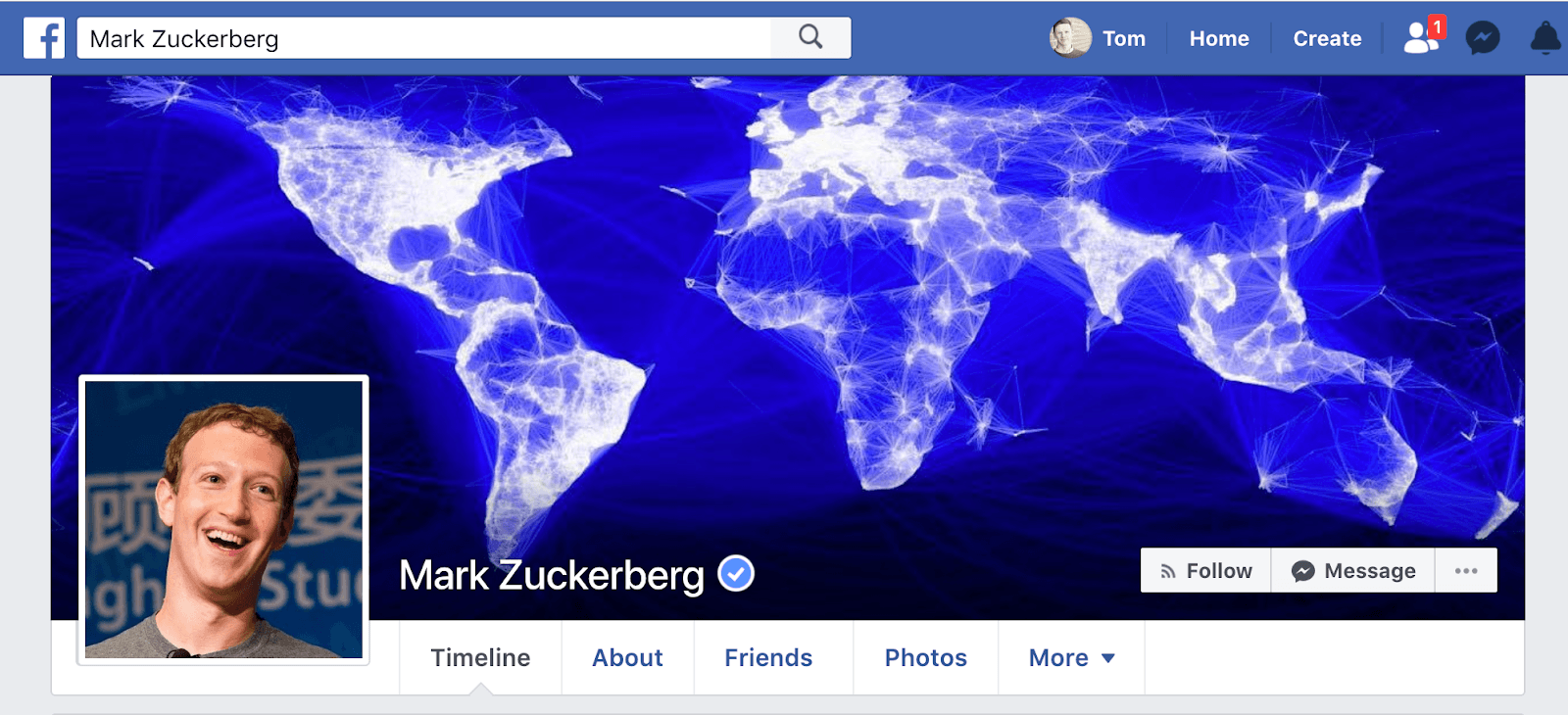 Mark Zuckerberg's Facebook Cover Photo