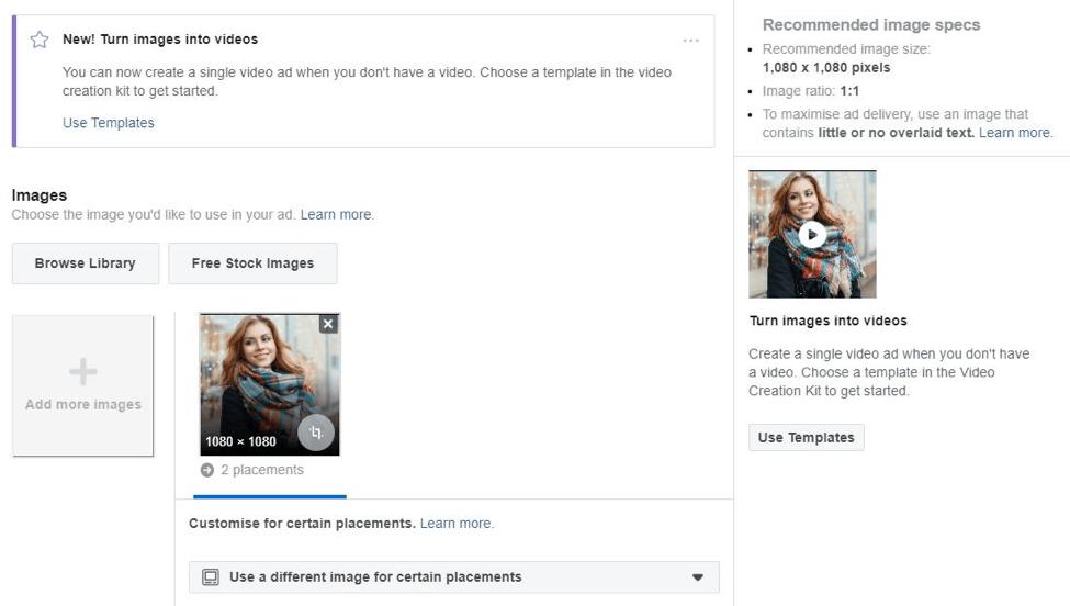 uploading creatives fb ads