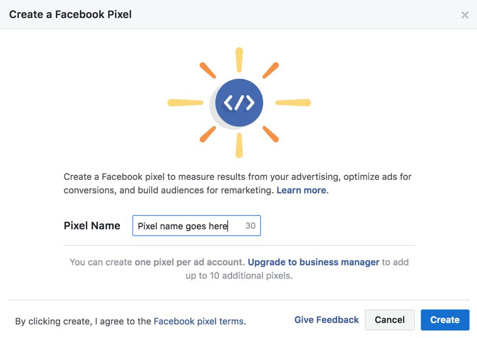 facebook pixel roi track
