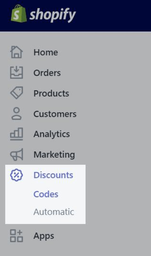 creating discount codes in shopify