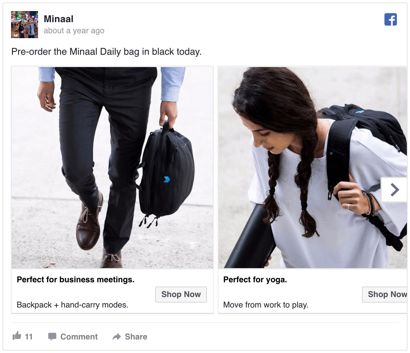 Minaal Facebook Ad