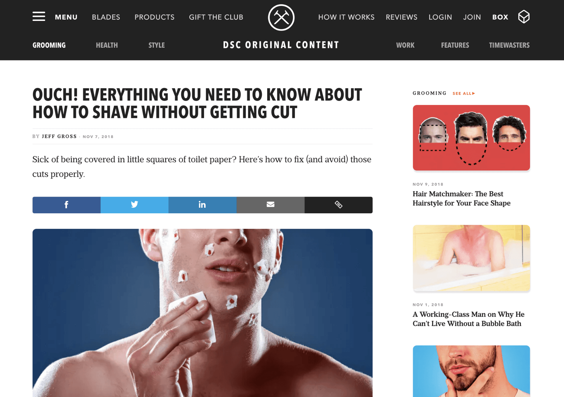 Dollar Shave Club Content