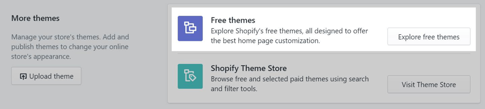 explore themes shopify