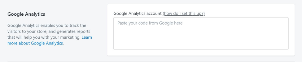 connecting google analytics with shopify