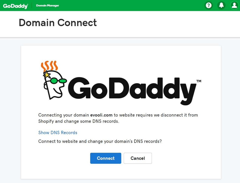 Shopify domain connect