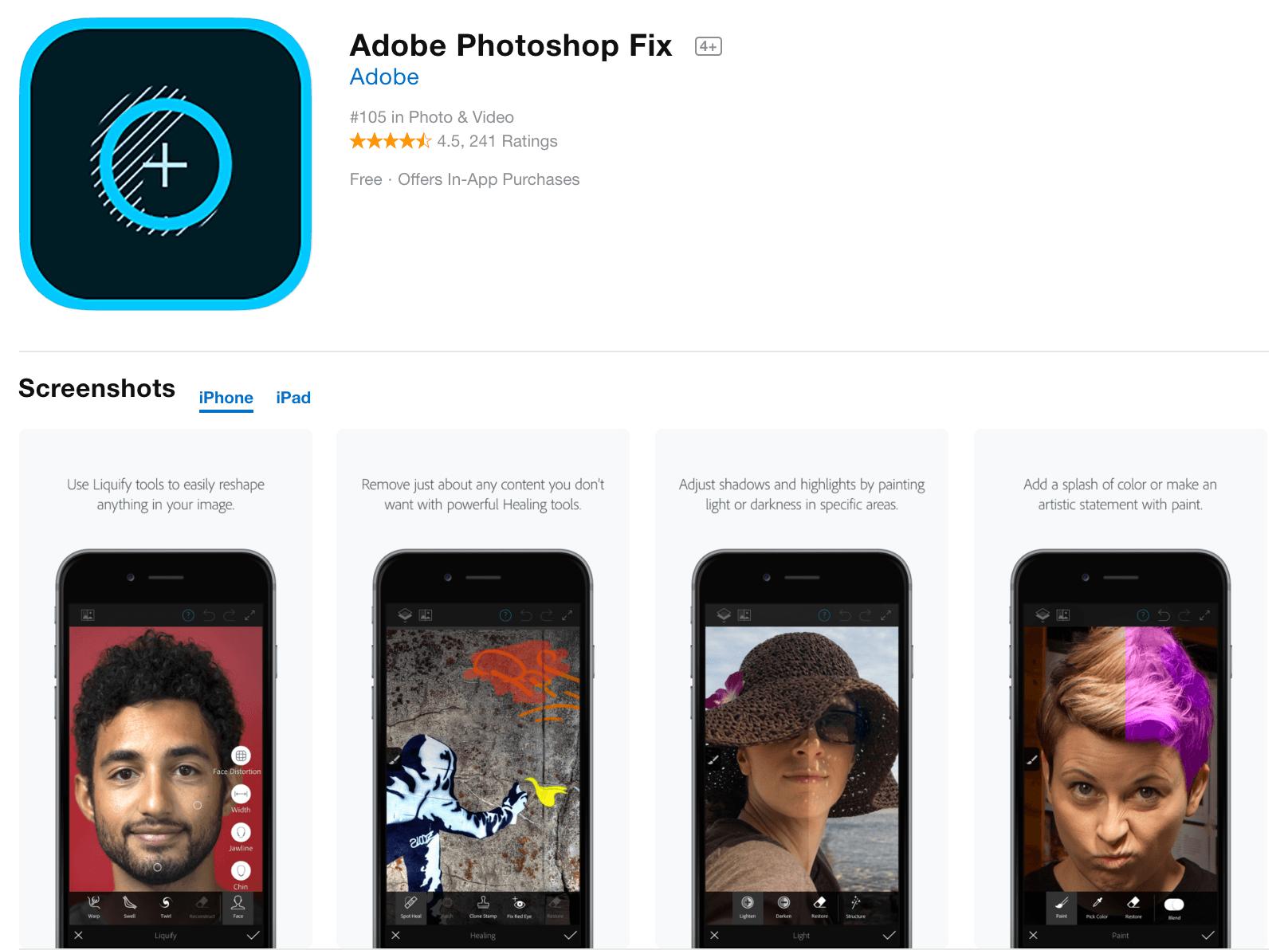 Adobe Photoshop Fix Photo Editor App