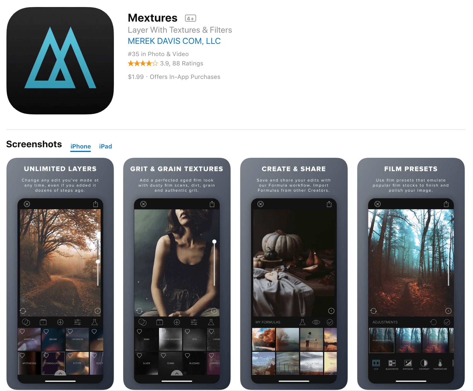 Mextures Photo Editing App