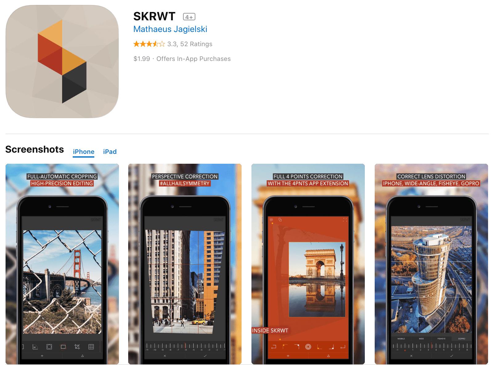 SKRWT Picture Editing App