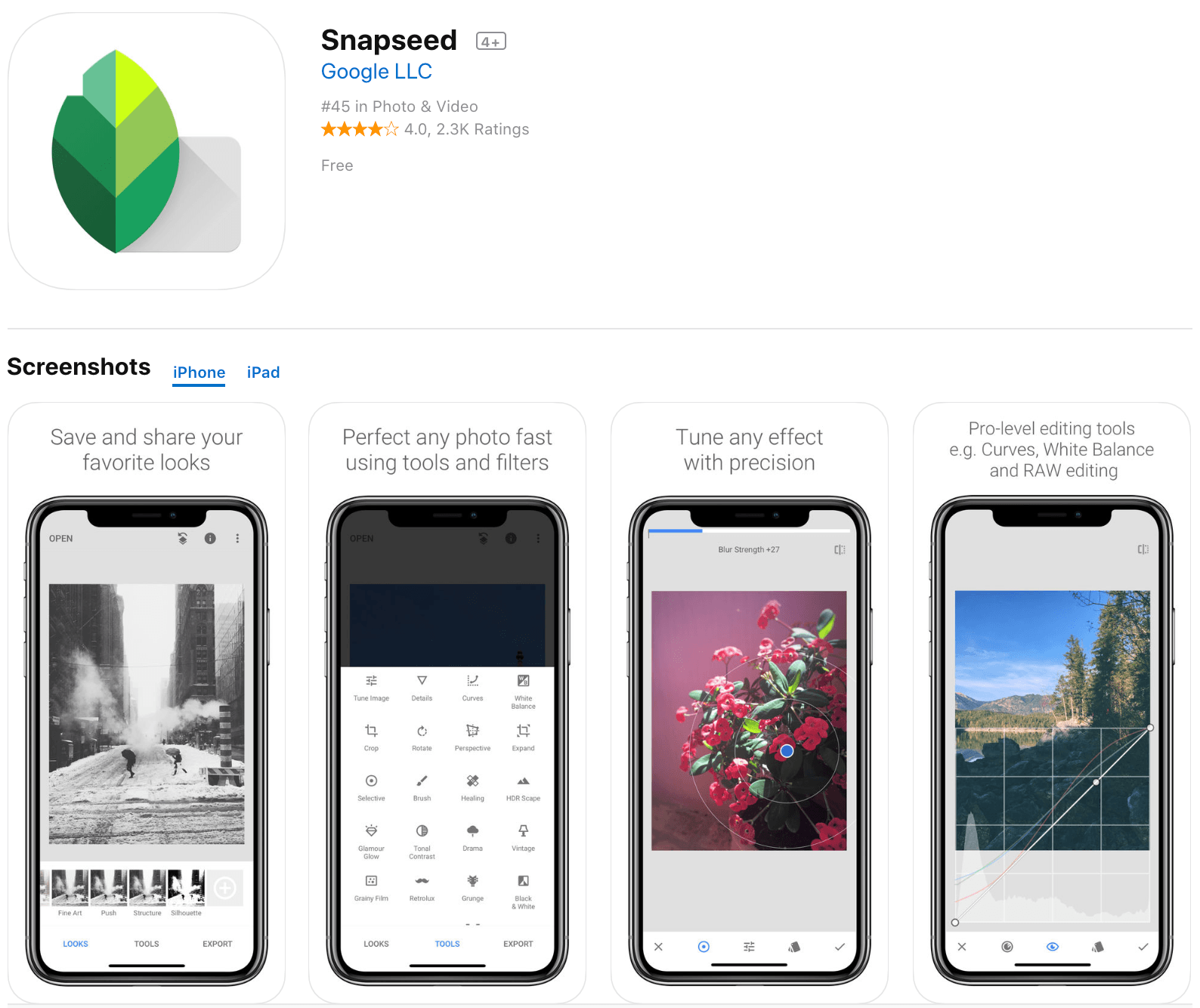 Snapseed Photo Editor App