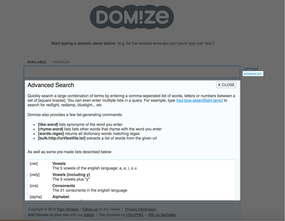 domize advanced features
